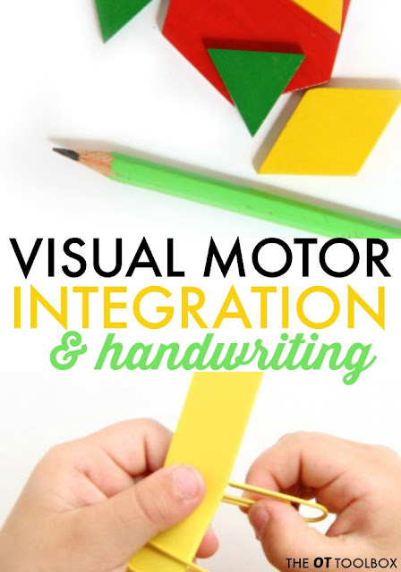 These hands-on activities are a fun way for kids to work on visual motor integration that is needed for common handwriting problems.