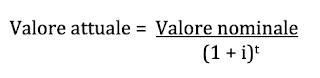 valore attuale e valore nominale