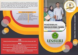 brosur unsuri surabaya 2019 tampilan depan