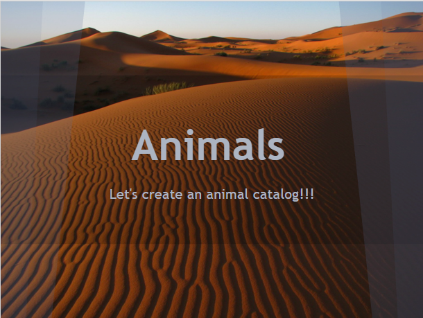 Animals Catalog