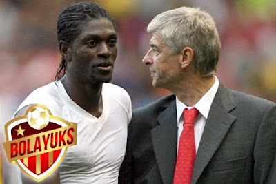 Adebayor Akui Tak Terlalu Dekat Dengan Wenger