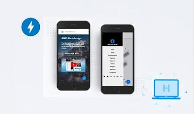 download template blogger amp alex design