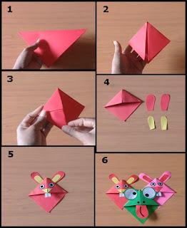 Tutorial Cara Membuat Origami Pembatas Buku