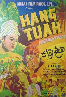 Filem Hang Tuah Lakonan P.Ramlee, kisah hang tuah, hang jebat, hang kasturi, hang lekir, hang lekiu, tun teja, sultan mahmud, melaka, Tuah bunuh Jebat,
