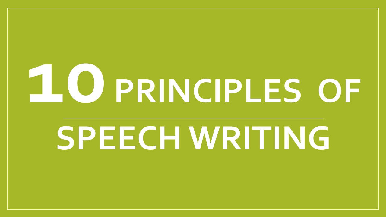 speech writing ideas