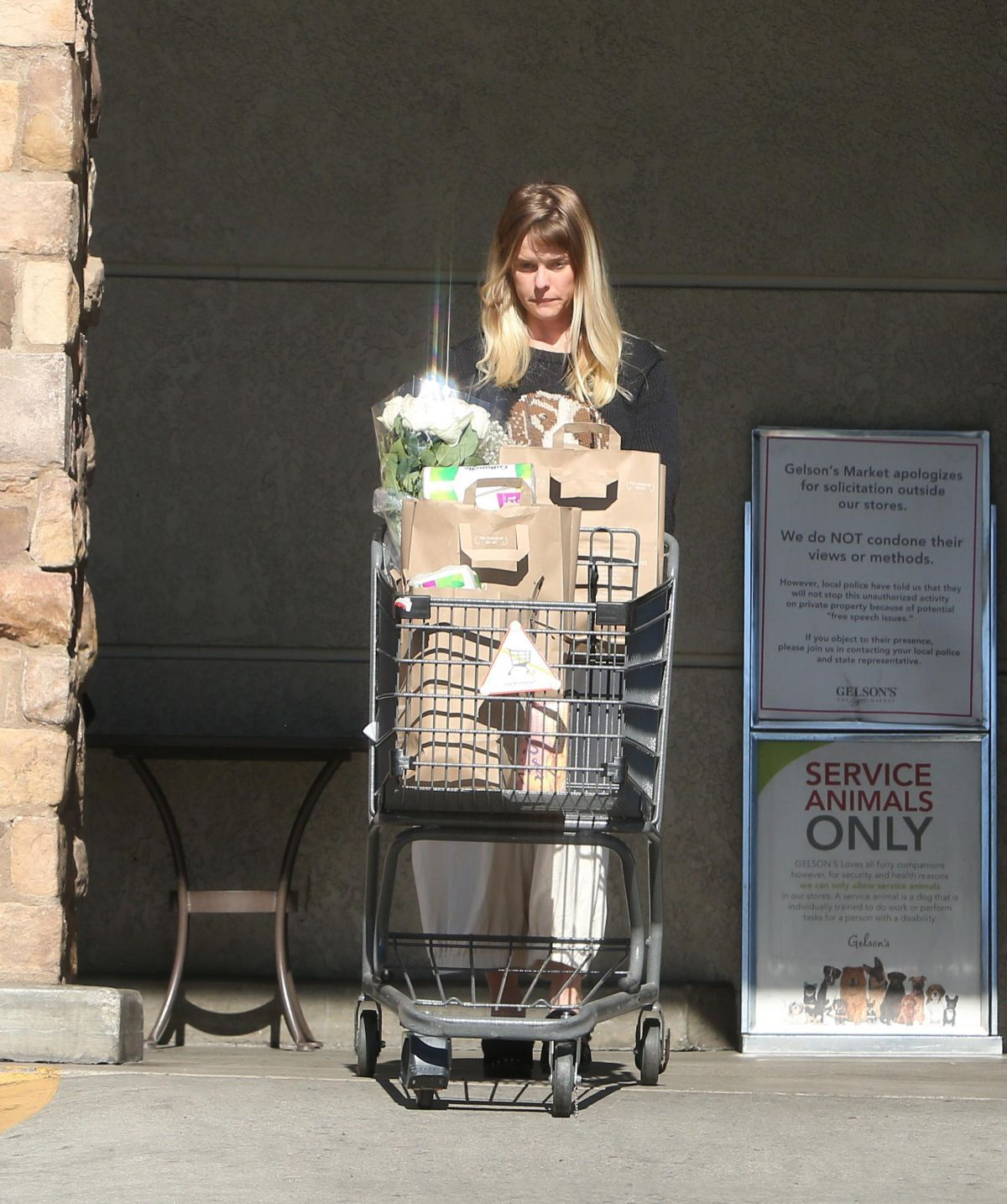 Photos of Alice Eve Out Shopping with boyfriend in Los Angeles