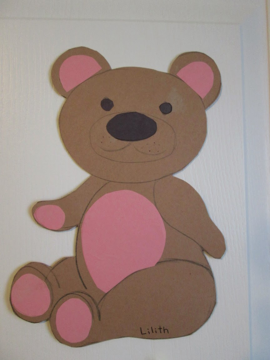 e80f60e6833 Draw a bear and cut it out. Draw and cut out the shapes for the paws