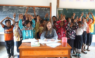 YouTube Star BubzBeauty Visits Two Schools In Laos Built Through Pencils Of Promise Charity Campaign