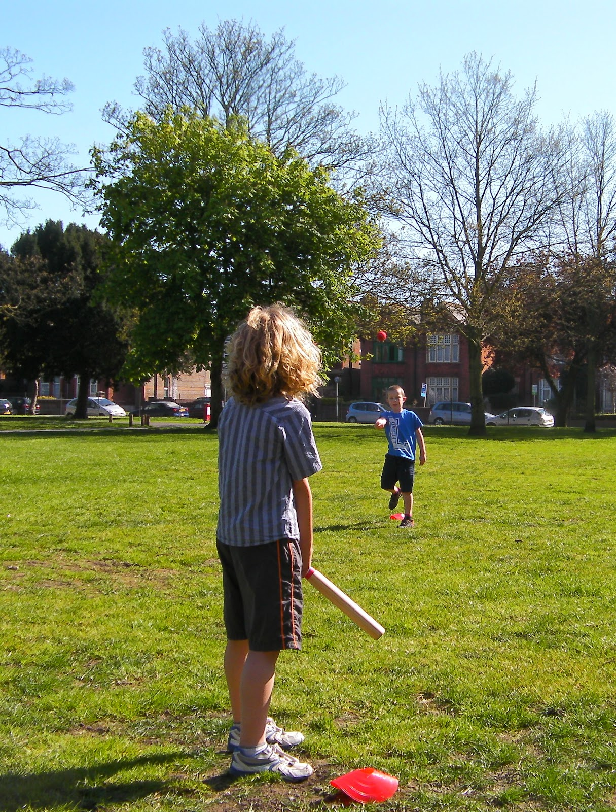 playing baseball in milton park southsea