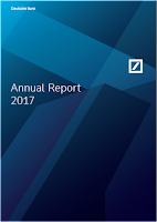 Front page of the 2017 annual report of DB