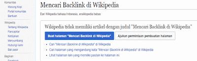Cara Mendapatkan Backlink Dari Wikipedia