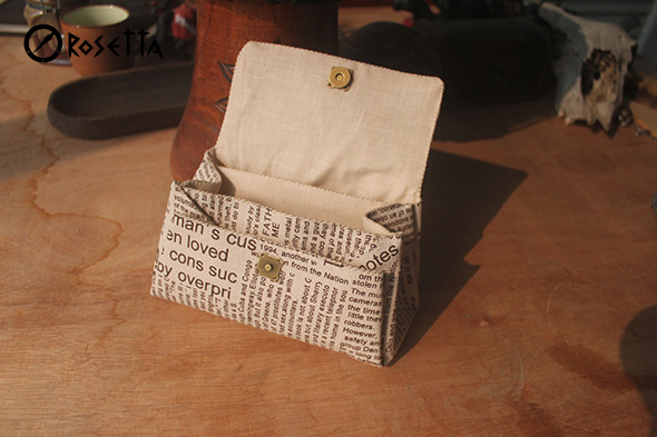Retro purse clutch of cotton. Step-by-step tutorial.