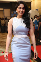 Actress Regina Candra Stills in Beautiful Sleeveless Blue Short Dress at SIIMA Short Film Awards 2017 .COM 0070.JPG
