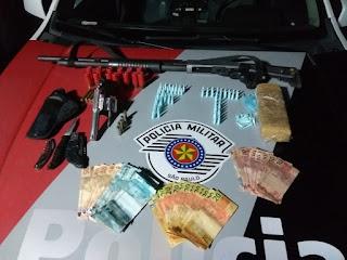 Polícia Militar prende dois homens por Tráfico de Drogas e porte de arma em Registro-SP