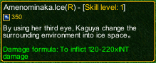 naruto castle defense 6.6 Zatsu Amenominaka.Ice detail