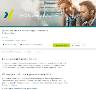 Die Xing-Business-Seiten.
