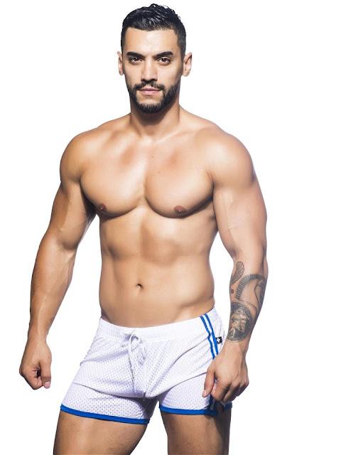 Andrew-Christian-Varsity-Mesh-Shorts-White-Cool4guys-Online-Store