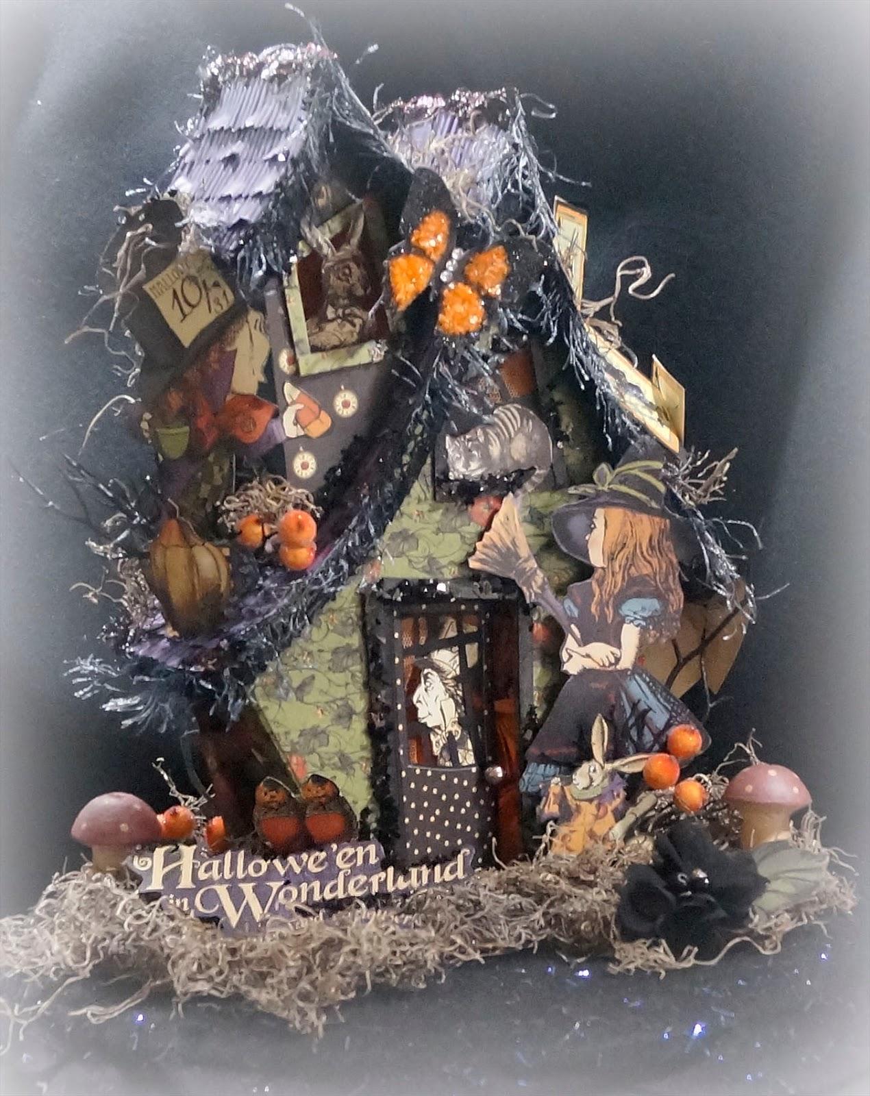 Terrys Scrapbooks Graphic 45 Halloween In Wonderland Wimsey House