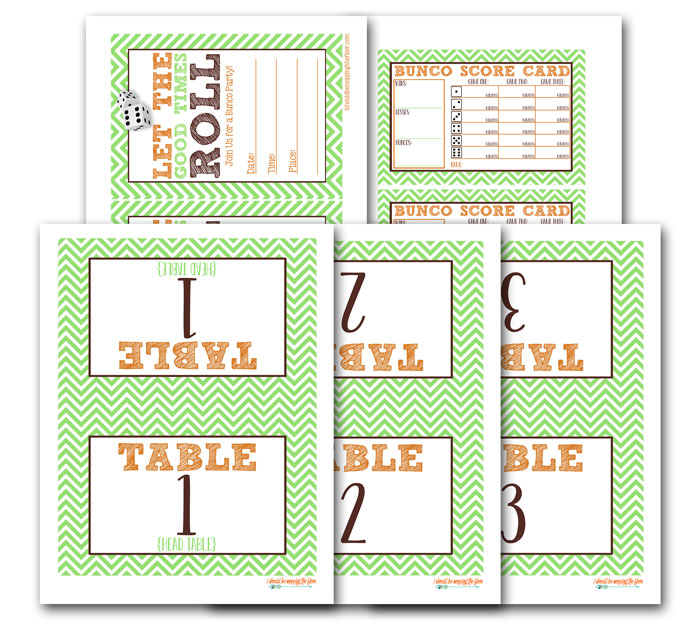 It's just a picture of Printable Bunco Sheets pertaining to bunco dice