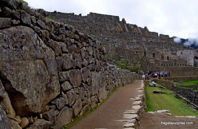 Setor residencial de Machu Picchu, Peru