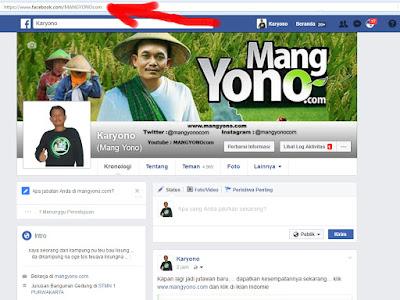 URL id/username facebook