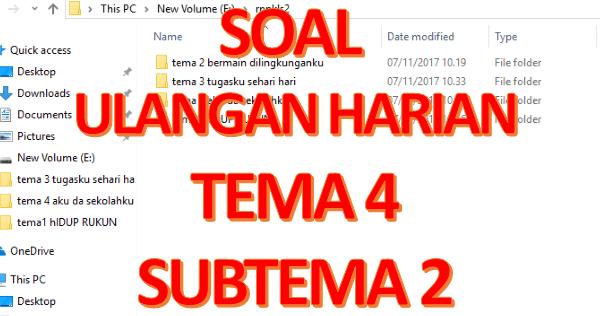 DOWNLOAD SOAL LATIHAN KELAS 5 TEMA 4 SUBTEMA 2 KURIKULUM ...