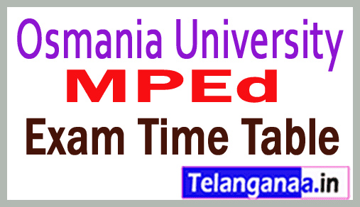 OU MPEd Examination Time Table