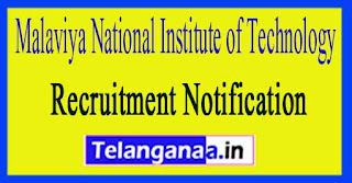 Malaviya National Institute of Technology MNIT Jaipur Recruitment Notification 2017