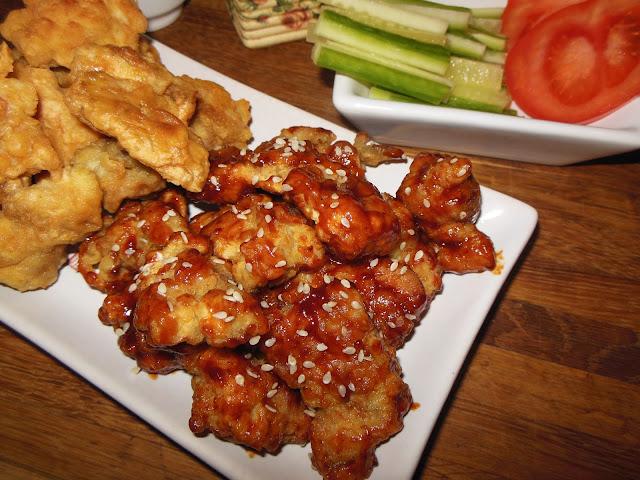 Пилешки хапки със сос Барбекю