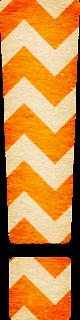 Abecedario con Zigzag Naranja. Orange Chevron Letters.