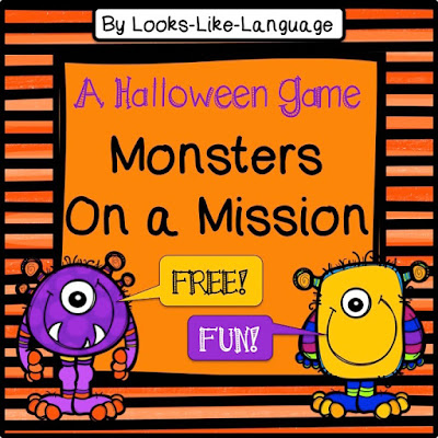 Open ended Halloween fun from Looks Like Language!