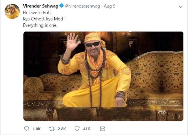 Top 12 Amazing Tweets by Virender Sehwag in 2018