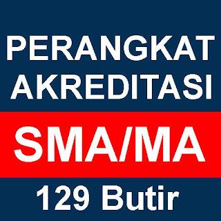 Download Perangkat Akreditasi SMA/MA 129 Butir Tahun 2018