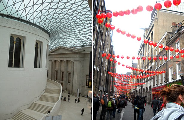 The British Museum and Chinatown