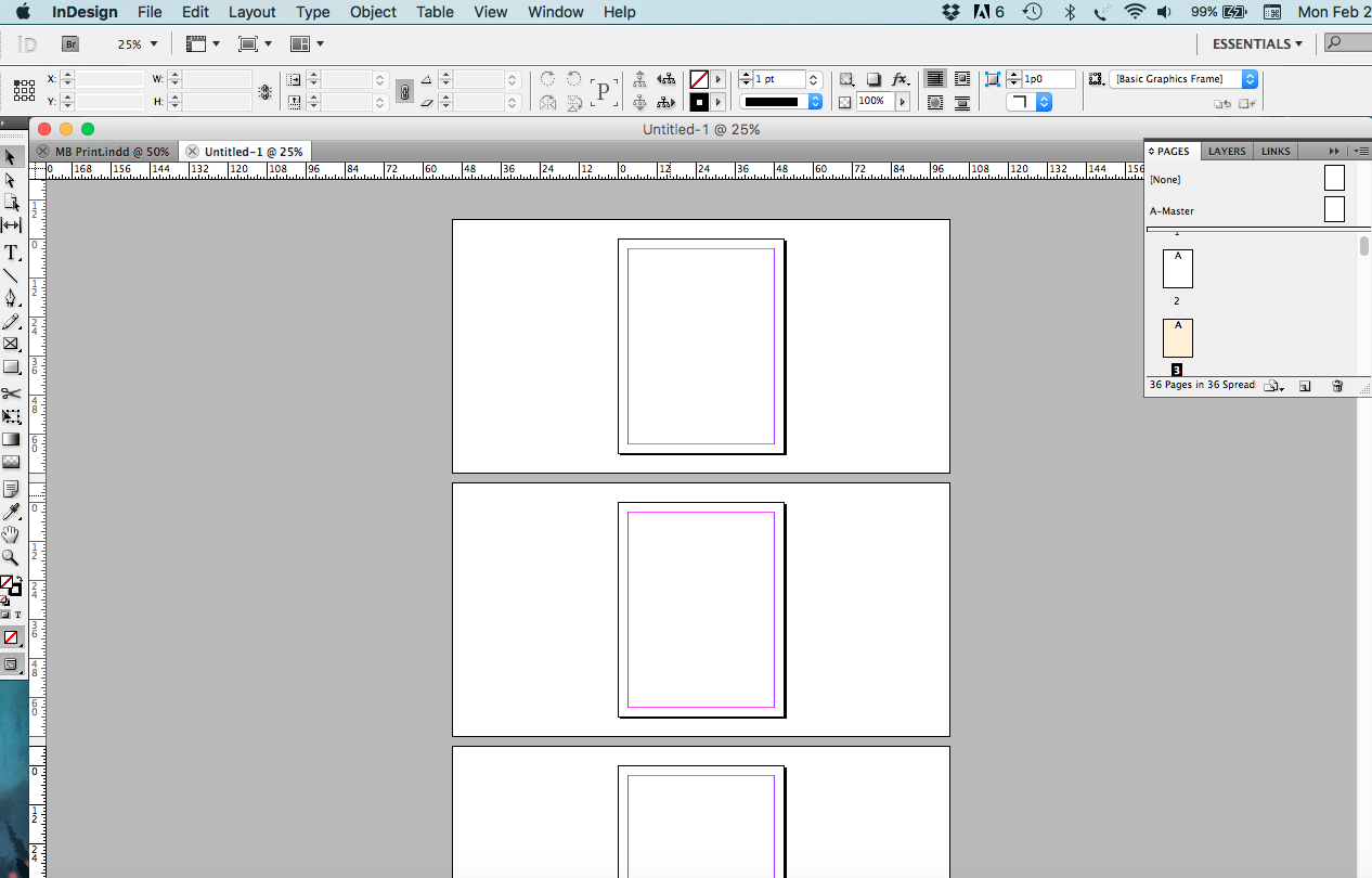 how to export a pdf of printer spreads booklet indesign