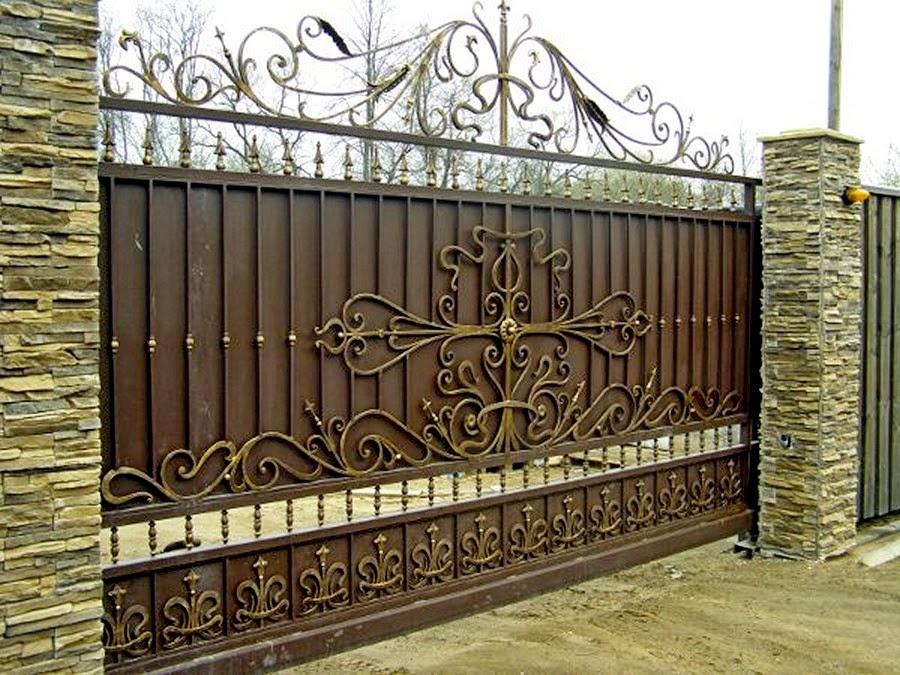 Откатные ворота фото видео