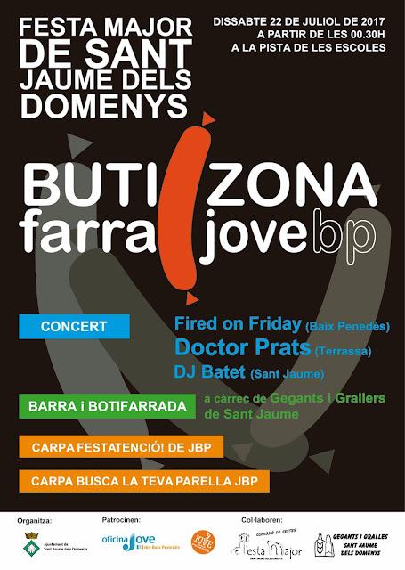 Esguard de Dona - ButiZona - Botiffarrada i Concert - Festa Major Sant Jaume dels Domenys 2017