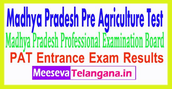 Madhya Pradesh Pre Agriculture Test Result PAT 2017