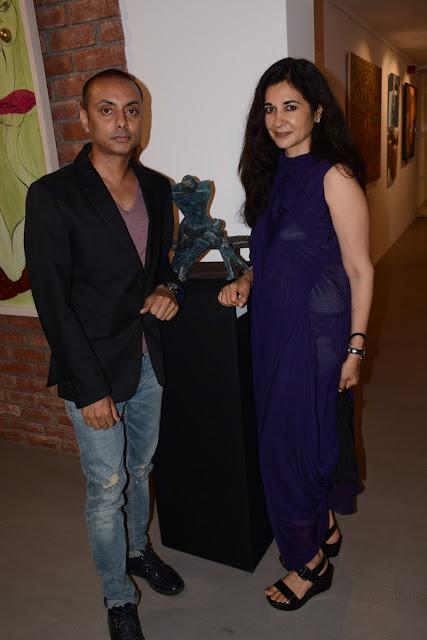 Entrepreneur Vikram Baidyanath with Kavita Bhartia