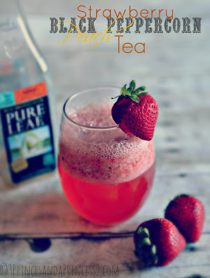 Strawberry Black Peppercorn Peach Tea #Recipe