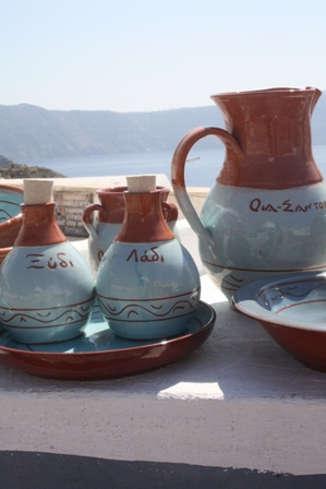 Greek ceramics Santorini