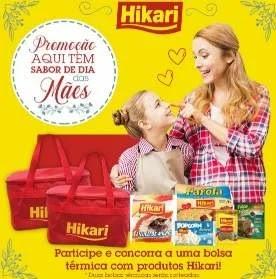 Promoção Hikari Alimentos Dia das Mães 2019 - Concorra Bolsas Térmicas