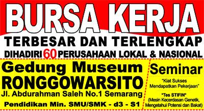 Lowongan Kerja Semarang Agustus 2016