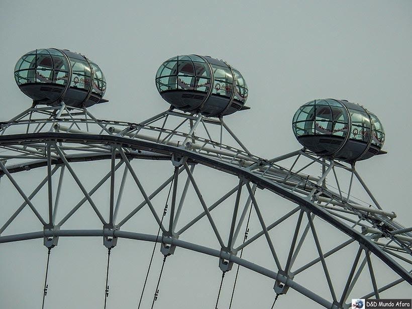 Cabines da London Eye: como visitar a roda-gigante de Londres