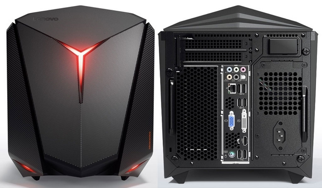 Lenovo IdeaCentre Y710 Cube front and back