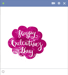 Happy Valentine's Facebook Sticker