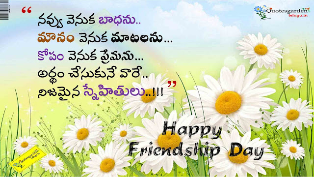 Nice Top friendship day quotes in telugu 770