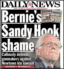 Bernie Sanders New York Daily News cover