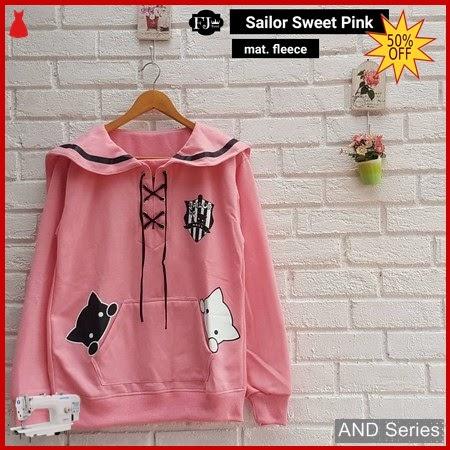 AND230 Sweater Wanita Sailor Sweet Pink BMGShop