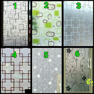 contoh motif stiker kaca